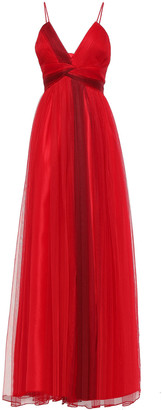ZAC Zac Posen Twist-front Tulle Gown