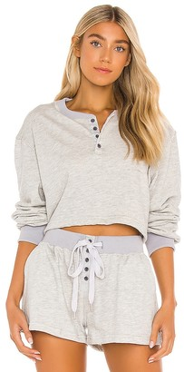 L'Academie Button Front Pullover