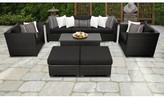 Tegan 8 Piece Sectional Seating Group with Cushions Sol 72 Outdoor Cushion Color: Black