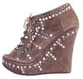 Jimmy Choo Studded Wedge Booties