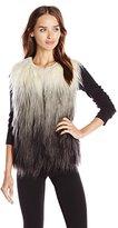 BCBGMAXAZRIA Women's Bonni Faux Fur Vest
