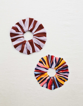 aerie Striped Swim Scrunchie 2-Pack