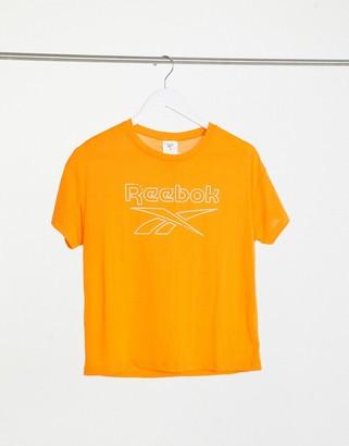 Reebok Training logo t-shirt in orange
