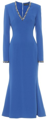 David Koma Exclusive to Mytheresa Embellished cady dress