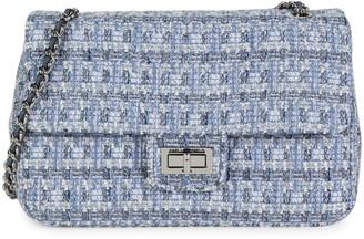 Karl Lagerfeld Paris Tweed Shoulder Bag