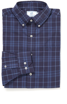 Southern Tide Mainmast Plaid Button Down Shirt Indigo L