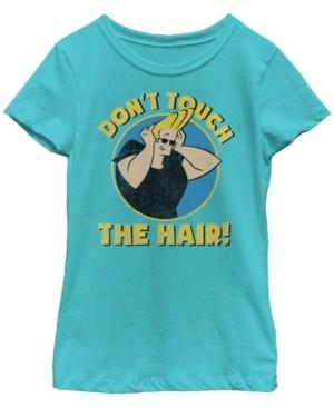 Fifth Sun Cartoon Network Big Girl's Johnny Bravo Don'T Touch The Hair Short Sleeve T-Shirt