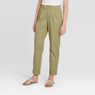 Women's High-Rise Straight Leg Cropped Pants - A New DayTM