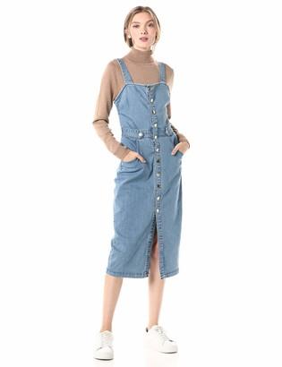 Finders Keepers findersKEEPERS Women's MIA Sleeveless Denim Buttondown MIDI Dress