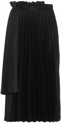 Noir Kei Ninomiya Pleated satin midi skirt