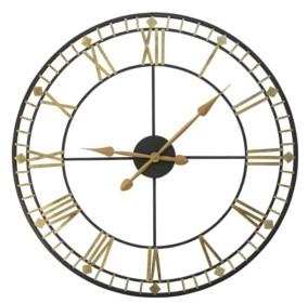 "Stratton Home Decor Oversized 31.50"" Industrial Austin Wall Clock"