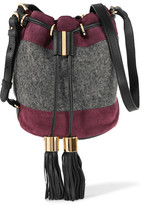 See by Chloe Suede And Wool Bucket Bag - Purple