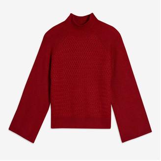 Joe Fresh Women's Texture Turtleneck Sweater, JF Midnight Blue (Size M)