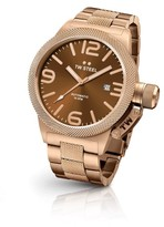 TW Steel Canteen CB195 Rose Gold Automatic with Sunray Brown Dial 45mm Mens Watch