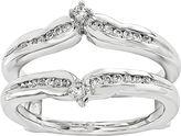 MODERN BRIDE 1/5 CT. T.W. Genuine Diamond 14K White Gold Ring Guard