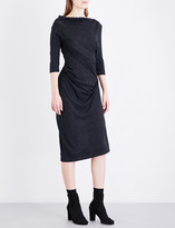 Anglomania Taxa ruched fitted wool dress