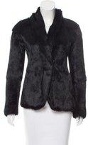 Theory Shawl Collar Fur Jacket