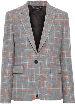 Rag & Bone Rylie Checked Wool-blend Blazer
