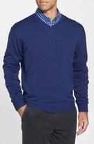 Cutter & Buck 'Douglas' V-Neck Sweater (Big & Tall)
