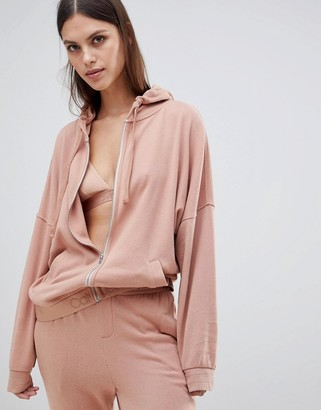 Calvin Klein Tonal Logo Full Zip Hoodie