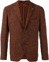 Tagliatore houndstooth blazer - men - Cotton/Linen/Flax/Viscose - 46
