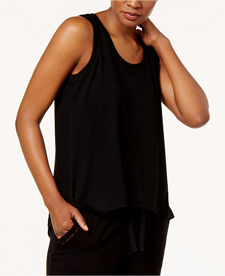 Alfani High-Low Pajama Tank Top, Created for Macy's