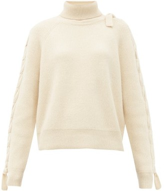 J.W.Anderson Threaded Cable-knitted Alpaca And Yak-wool Sweater - Ivory