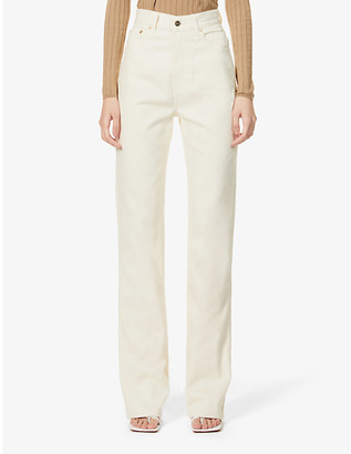 Jacquemus Le De Nimes straight-leg high-rise organic denim jeans