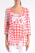 Lynn Ritchie Coral Dot Mesh Top