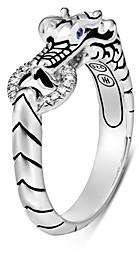 John Hardy Sterling Silver Legends Naga Diamond & Blue Sapphire Dragon Head Ring