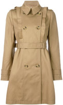RED Valentino double breasted trench coat - women - Cotton/Polyamide/Polyester/Acetate - 42