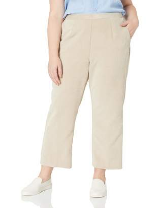 Alfred Dunner Women's Size Plus Full Back Elastic Proportioned Short Pant