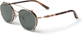 Toms The Hill-Side Hynes Shiny Gold Clip-On Zeiss Polarized