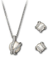 Swarovski Nude Earrings & Necklace Set