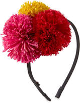 Eugenia Kim Lorelei Grosgrain Pompom Headband, Black