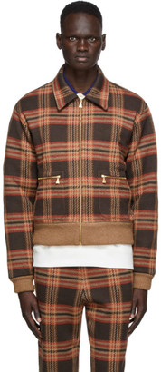 Gucci Brown Wool Cut and Sewn Jacket