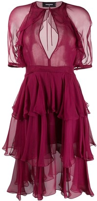 DSQUARED2 tiered dress