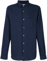 Closed pinstriped shirt - men - Cotton - S