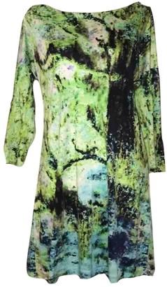 Issey Miyake Green Silk Dresses