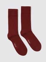 Frank + Oak 2-Pack Cotton Socks in Burgundy