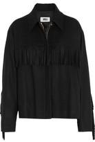 MM6 MAISON MARGIELA Fringed Wool-Blend Felt Jacket
