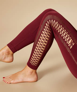 Marika Sport Women's Active Pants TAWNY - Tawny Port Cross Mesh Seamless Leggings - Women