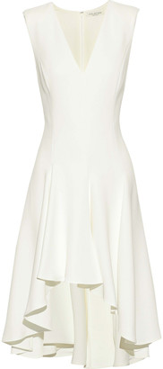 Halston Asymmetric Crepe Dress