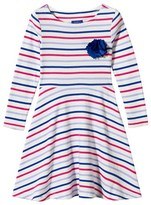 Joules Striped Jersey Dress with Corsage
