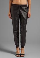 Kacey Leather Sweatpant
