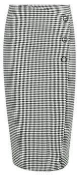 Dorothy Perkins Womens Black And White Mini Dogtooth Pencil Skirt, Black