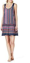 Kensie Crochet-Trimmed Striped Chemise