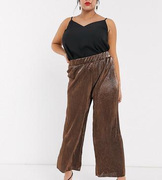 Vero Moda Curve plisse wide leg pants