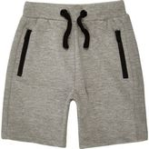 River Island Mini boys grey ribbed shorts