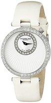 Stuhrling Original Women's 597.01 Vogue Audrey Radiance Swiss Quartz Mother-Of-Pearl Swarovski Crystal White Strap Watch